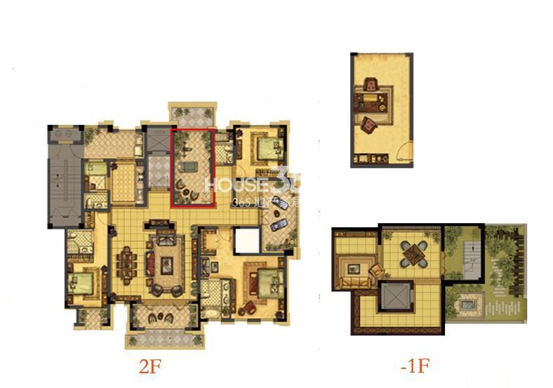中吴红玺一期大平层标准层E2-2户型4室3厅4卫1厨 257.00㎡