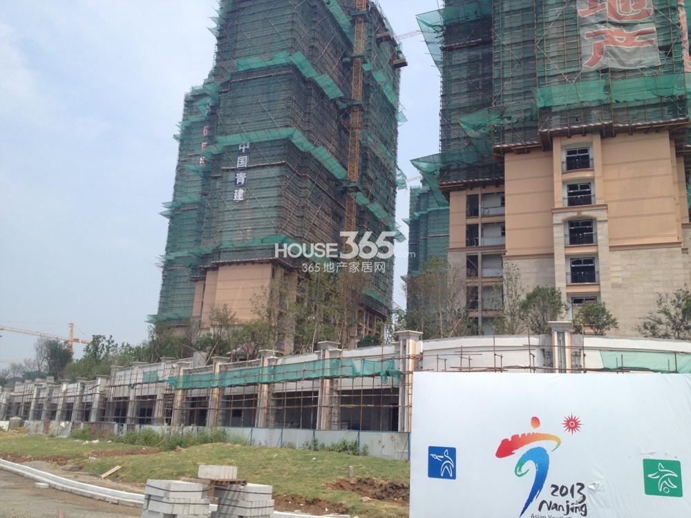 雅居乐滨江国际花园在建楼栋实景图(8.22)
