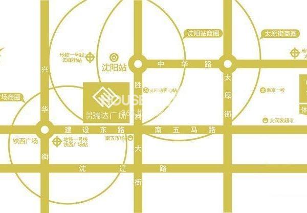 中铁瑞达广场交通图