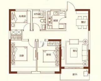 五矿崇文金城 南外学区房 总价低 南北通透三房