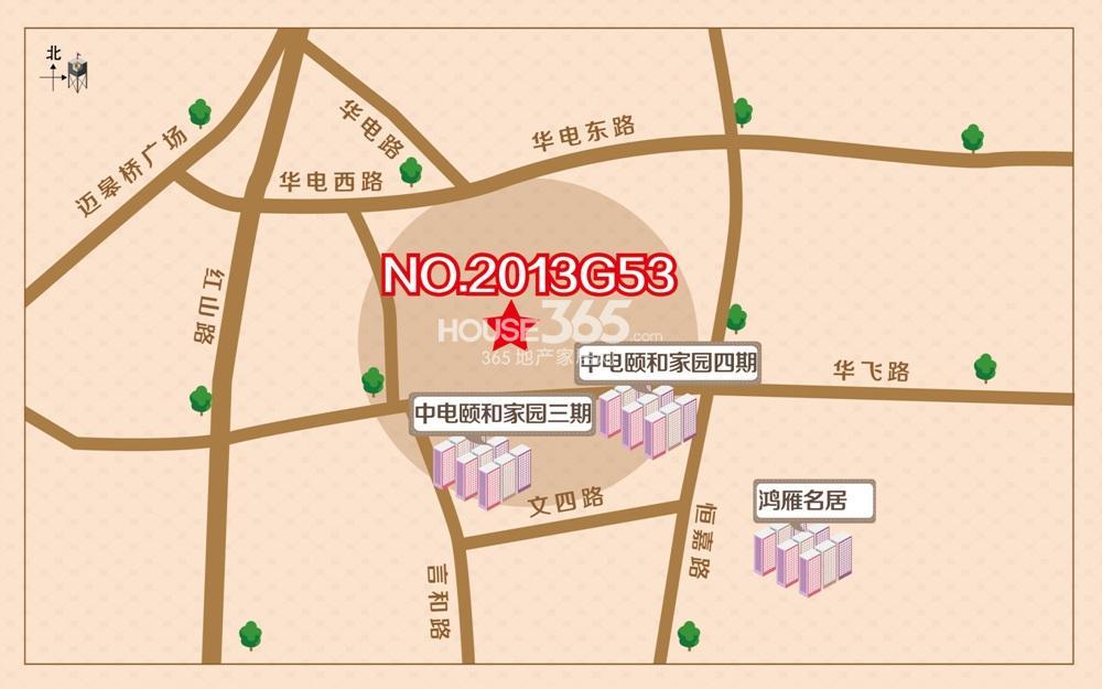中电G53地块交通区位图