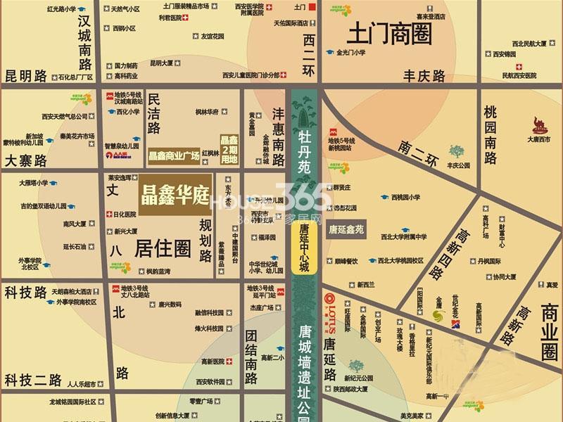 晶鑫华庭交通图