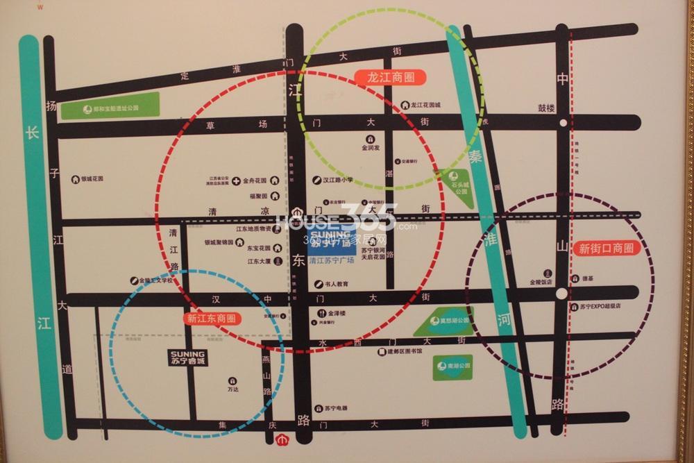 清江苏宁广场交通图