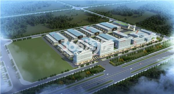 中农联新乡国际农产品交易中心鸟瞰图