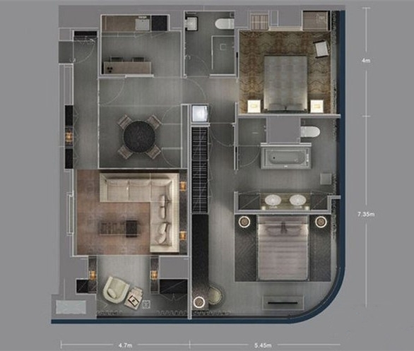 阿玛尼艺术公寓户型图