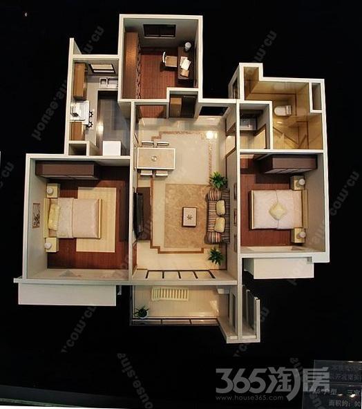 万科金色领域3室2厅1卫90.19平米2014年产权房精装