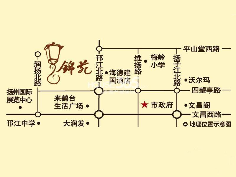 中海锦苑交通图