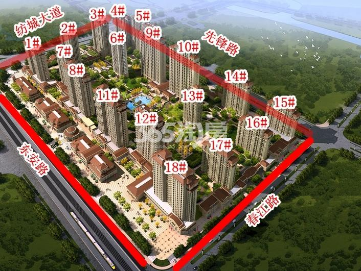 长泰国际社区南地块楼栋分布图