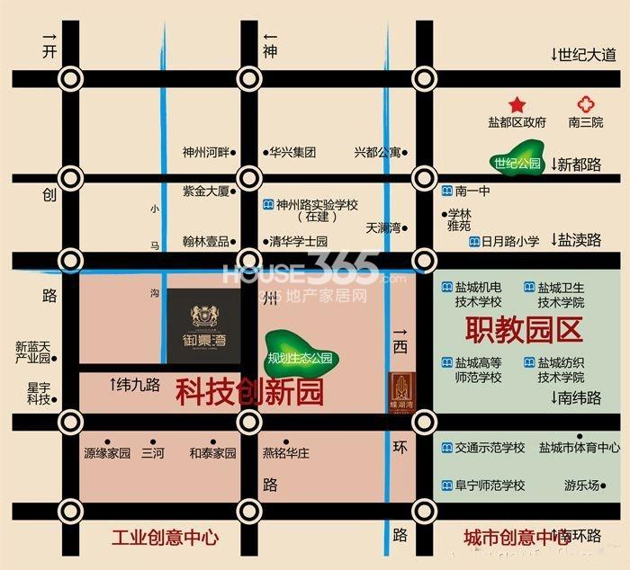 御景湾交通图