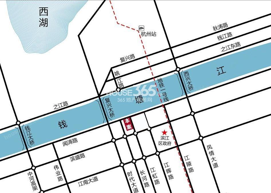 银泰国际交通图