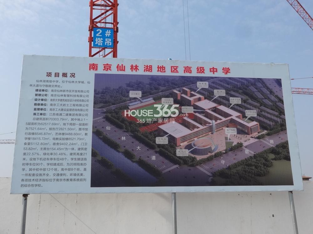 高科荣境别墅前仙林中学鸟瞰实景图(11.25)