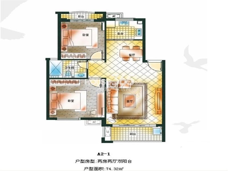 滨江郡户型图