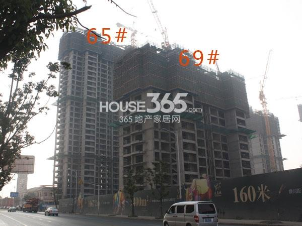 大名城65#、69#工程进度实景图(2013.12.12)