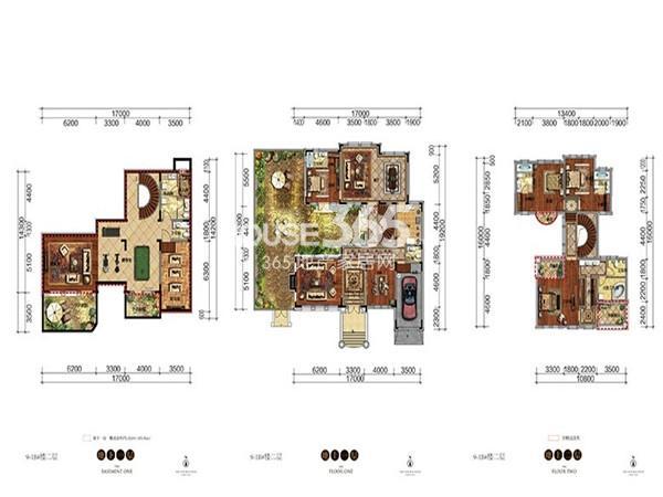 新希望紫檀山B户型5室3厅5卫 358.59㎡