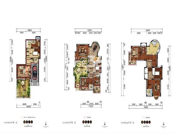 新希望紫檀山D3a户型4室2厅5卫 321.82㎡