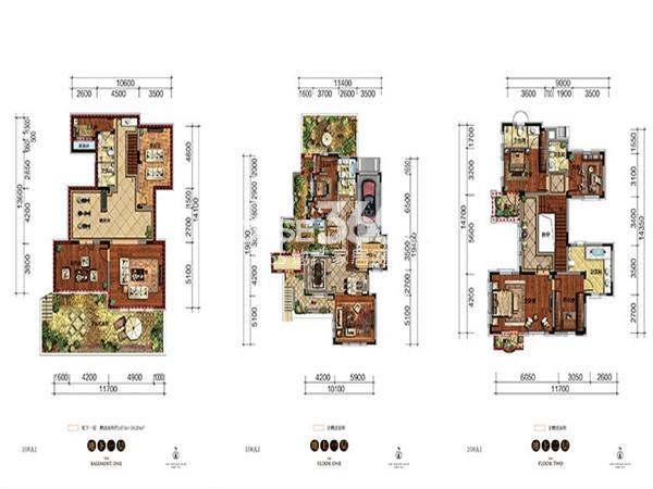 新希望紫檀山A1户型4室2厅5卫 288.76㎡
