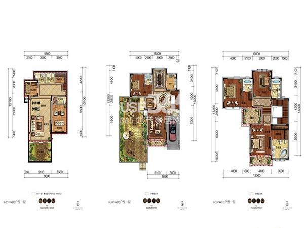 新希望·紫檀山D2户型4室2厅5卫 281.89㎡