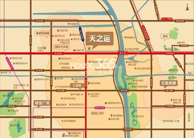 苏高新天之运交通图