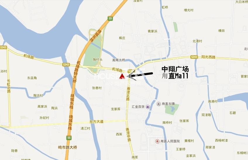中翔广场甪直Mall交通图