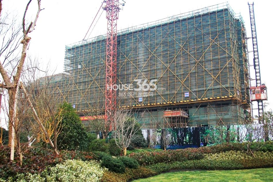 银亿东城售楼处旁在建楼栋实景图(1.11)