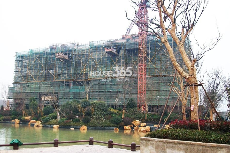 银亿东城售楼处旁在建临水楼栋实景图(1.11)