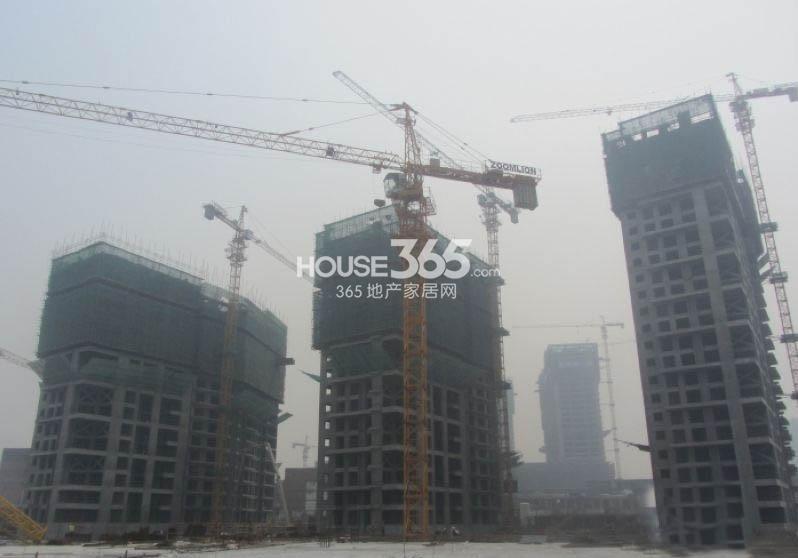 万科大明宫一期4#、5#、6#楼工程进度图(2013.12.20)