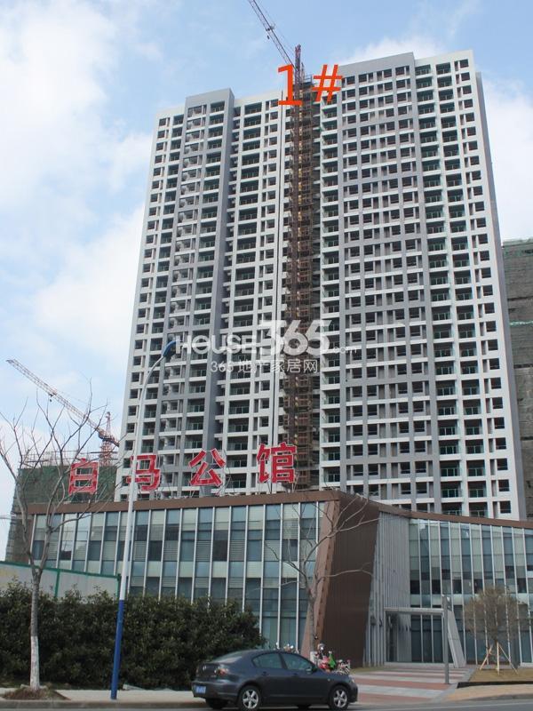 绿洲白马公馆1#楼工程实景图(2014.2.11)