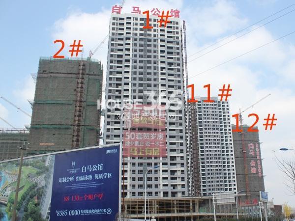 绿洲白马公馆1、2、11、12#楼工程实景图(2014.2.11)