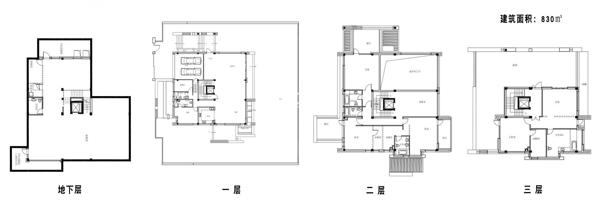 保利独墅西岸约830平户型平面图