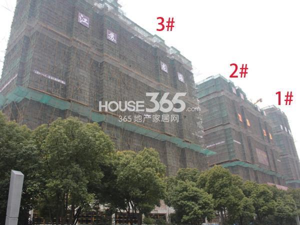 弘阳广场1-3#楼工程进度实景图(2014.2.12)