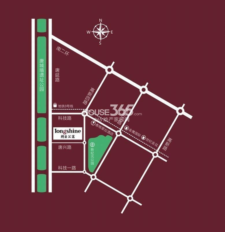 朗臣公寓交通图