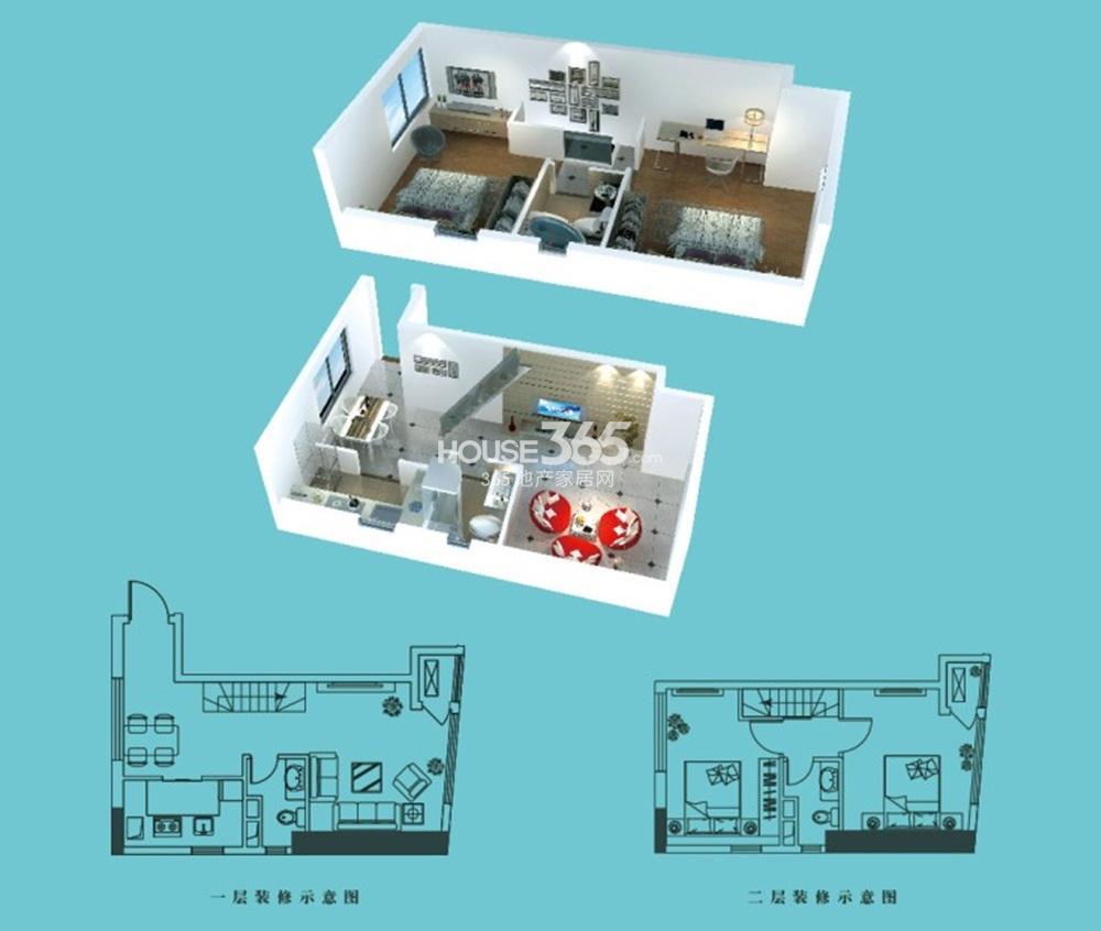 首创天迈广场a1户型 57.14平方米