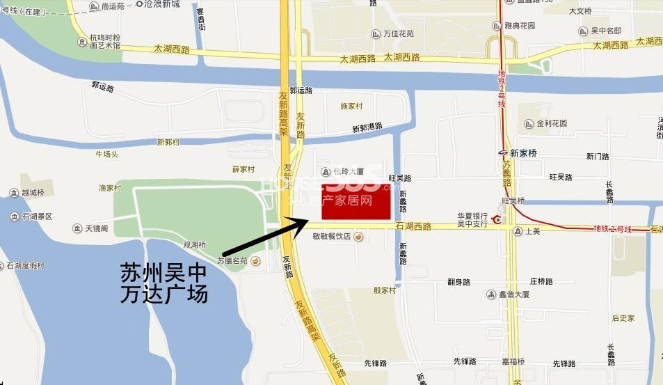 苏州吴中万达广场交通图