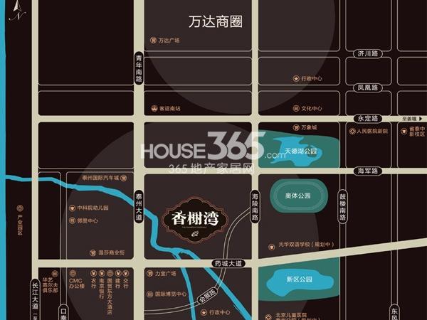 汇鸿香榭湾交通图