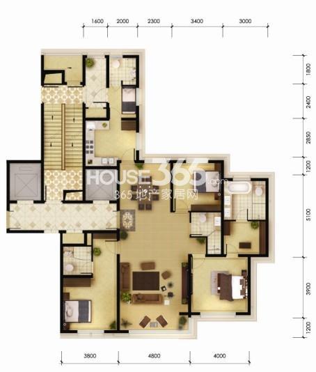 190平米三室两厅四卫