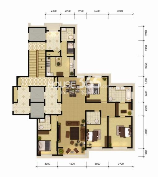 170平米四室两厅四卫