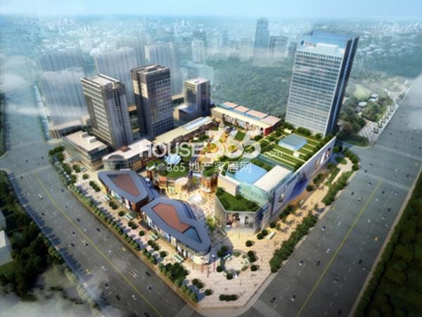 蚌埠新地城市广场鸟瞰图