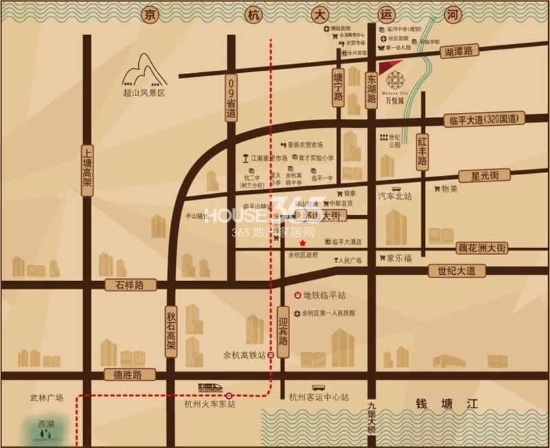 嘉丰万悦城交通图