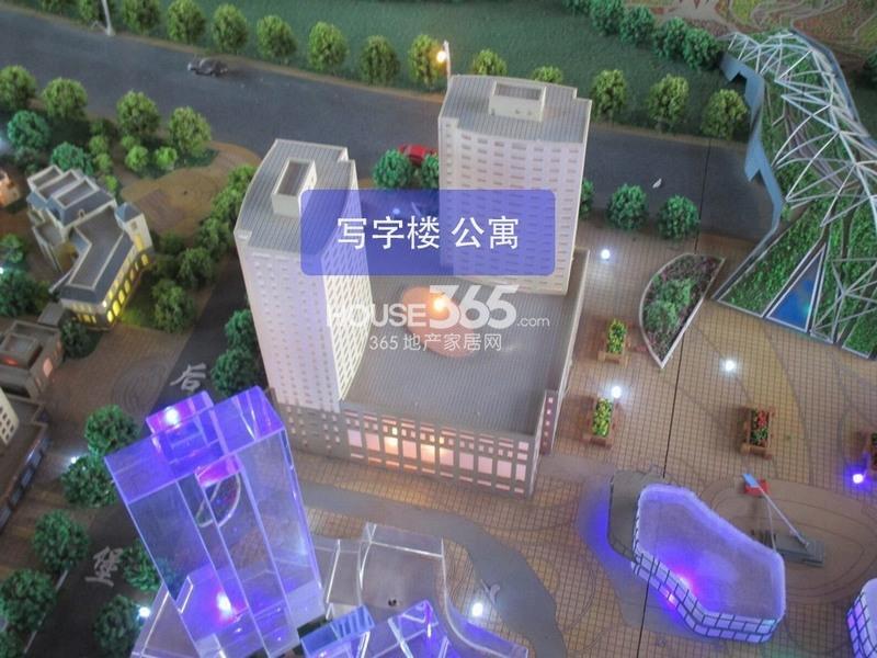 世园大公馆二期写字楼、公寓沙盘实景图(20140409)