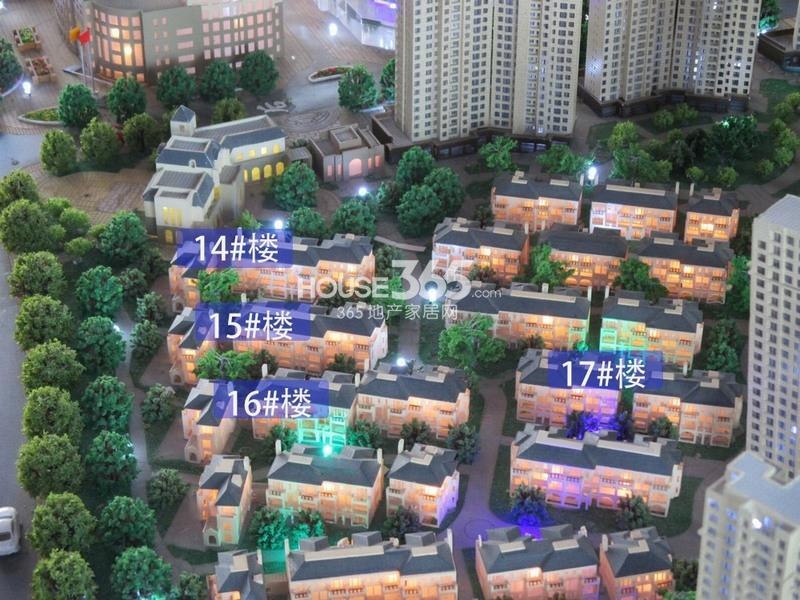 世园大公馆一期14、15、16、17#楼沙盘实景图(20140409)