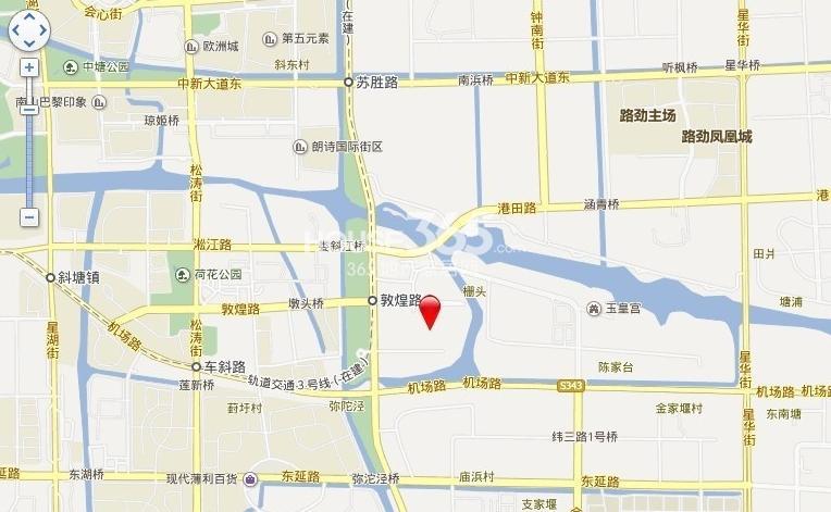 中南锦苑交通图