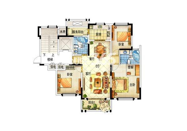 上置香岛御墅d3户型图