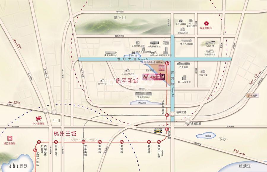 理想银泰城区位图