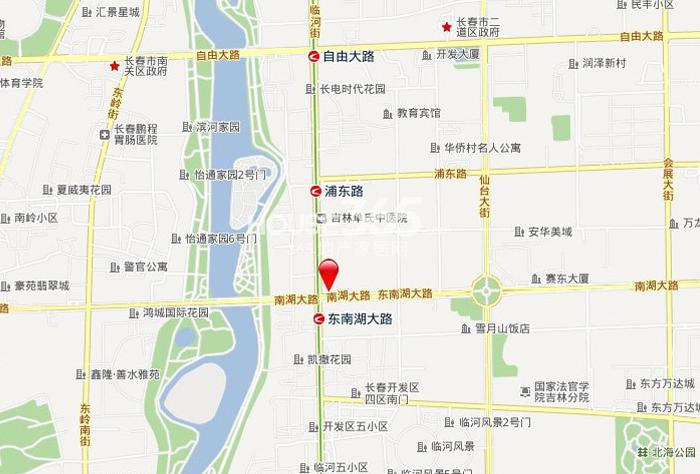 中海紫御华府交通图