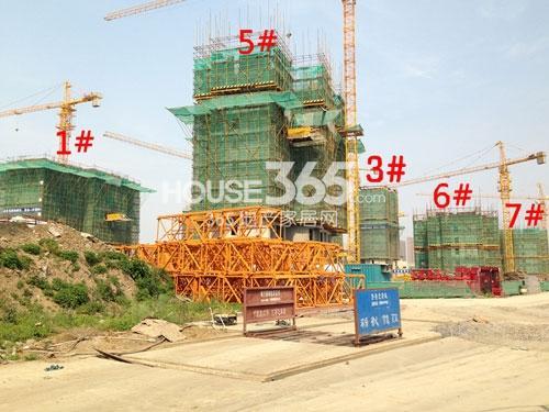 常州宝龙城市广场工程进度实景图(2014.5)