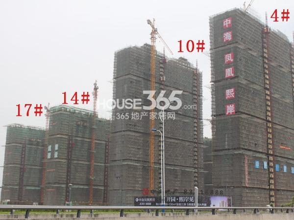 中海凤凰熙岸工程进度实景图(2014.5)