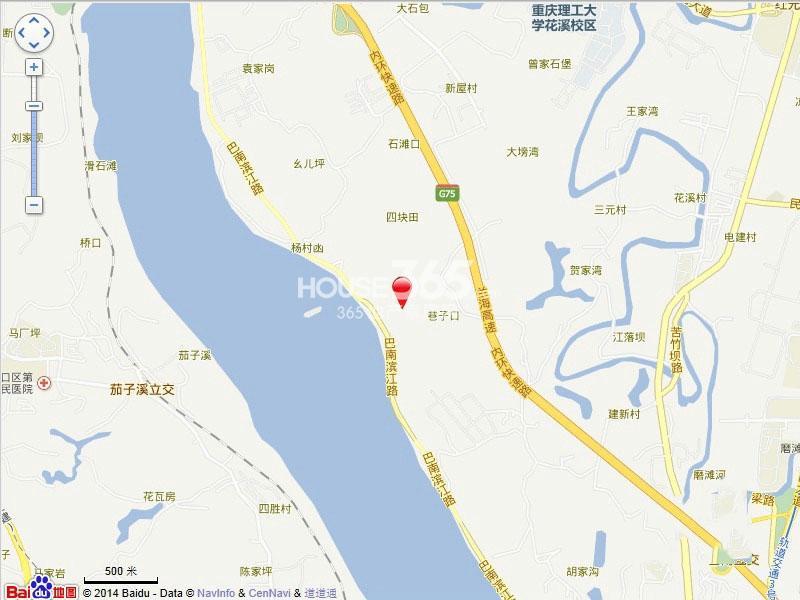 珠江城交通图
