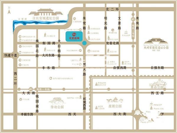 金叶新城交通图