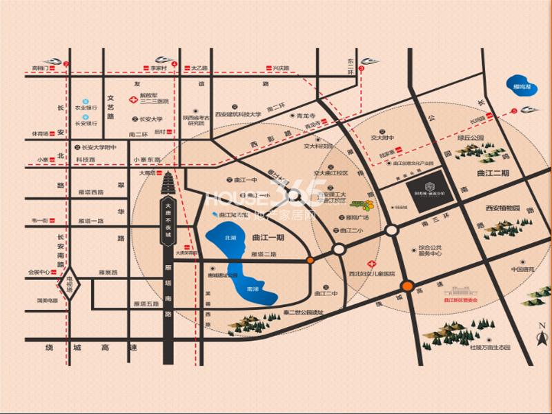 阳光城丽兹公馆交通图