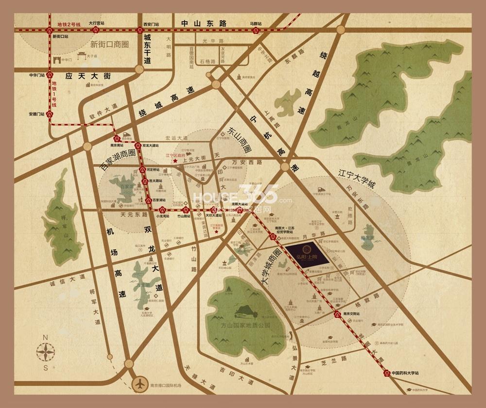 弘阳上院交通图